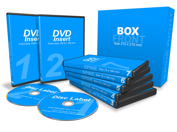 7 DVDs with Box action script