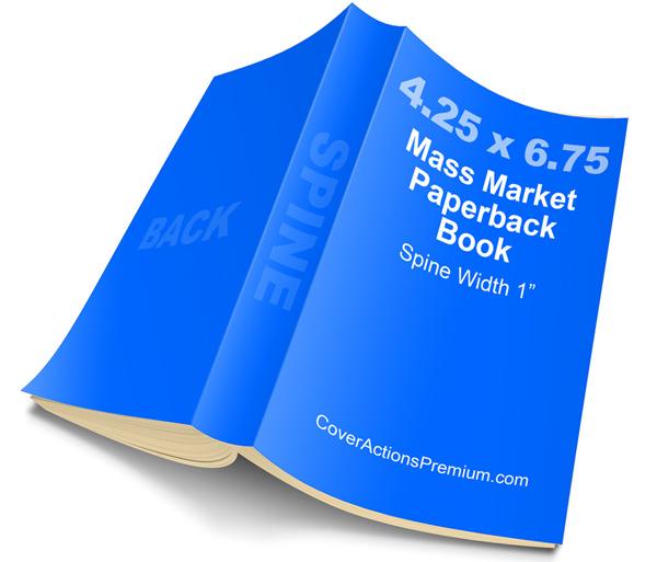 Mass market paperback book mockup