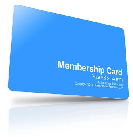 Member Card Mockup Action Script – Membership Card Template