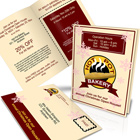 6 x 9 Inches Bi-Fold Brochure Action Script  Set -Vertical