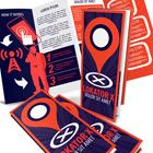 4 Panel 14 x 8.5 Accordion Fold Brochure Mock Up Actions