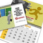 8.5 x5.5 Spiral Bind Calendar Book Mock Up Action Script