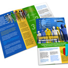 A3  Half Fold Brochure Mock Up Cover Action Set
