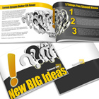 Horizontal A4 Booklet Mock Up Actions