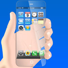 Futuristic Transparent iPhone Mock Up