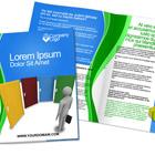 Letter Size Half Fold Brochure Mock Up