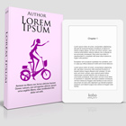 4.25 x 6.75in Paperback with Kobo Glo eReader Mock up action script