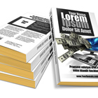 4.25 x 0.75 mass market Paperback Book Stack Mock Up Cover Actions