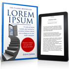 6 x 9in Paperback Book with Kindle mock up cover actions