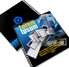 Square Spiral Bind Report Book Action Script Set