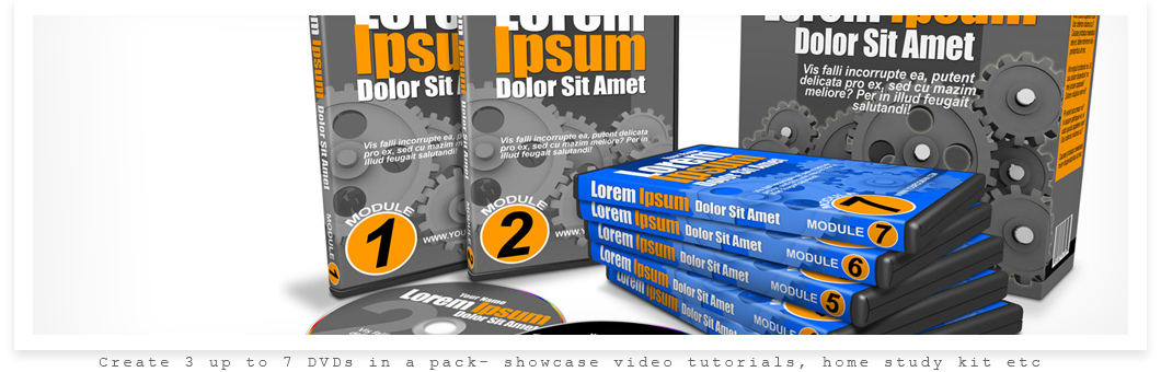 Bundle- 7 DVD Pack Mock Up Actions