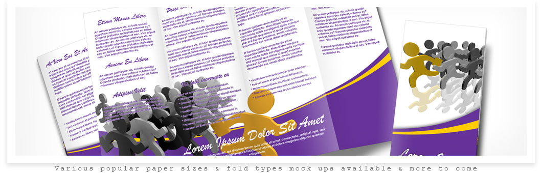 Accordion Brochure Mock Up Actions