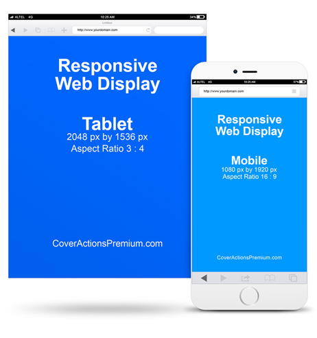 Responsive Web Display Mockup