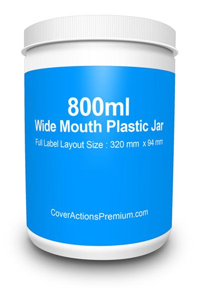 800ml Wide Mouth Jar mockup