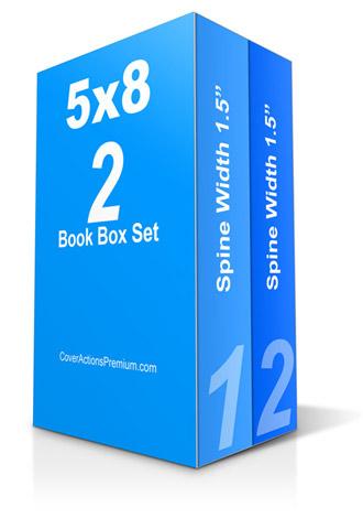 2 Book Box Set Mockup Free