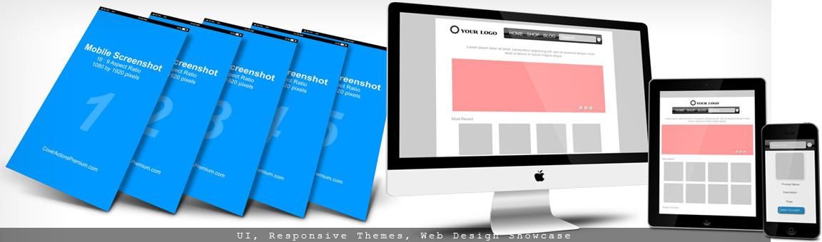 Web Display Mockup Cover Actions