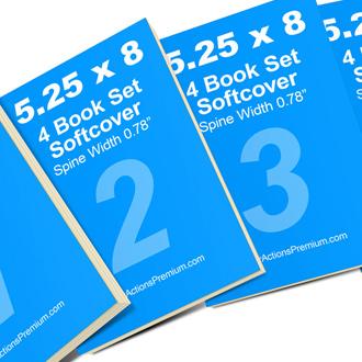 4 Book Set Mock Up