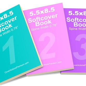 3 Book Set Mockup Action