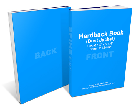 Dust Jacket Hardcover Book mock-up