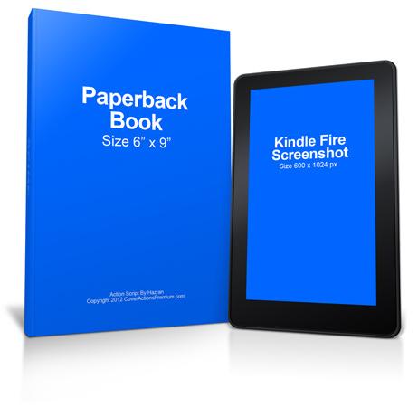 Paperback Book Kindle Mockup