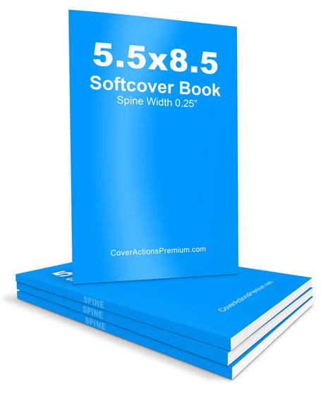 Slim Softcover Book Mockup -5.5x8.5