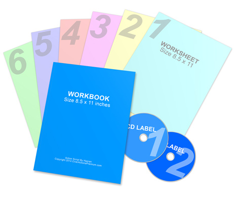 Workbook CDs Worksheets mockup