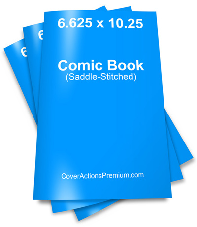 Comic Book Stack Mockup