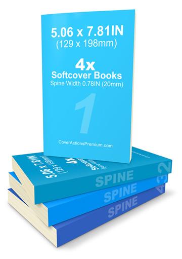 BFormat 4x Softcover Book Set Mockup V1