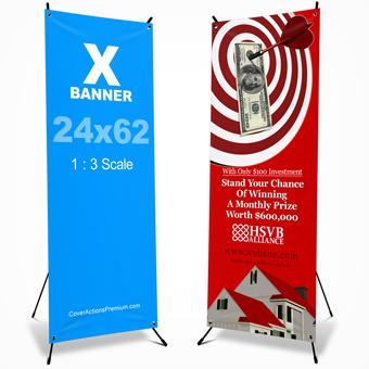 X Banner Mockup -24x62