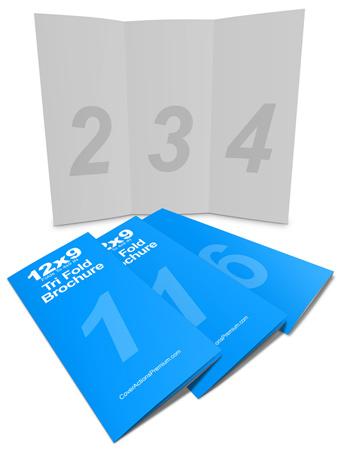 12x9 tri fold brochure mockup