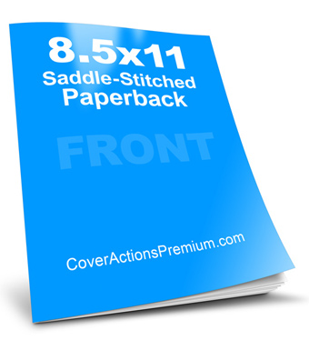 8.5 x 11 SaddleStitch Book Mockup