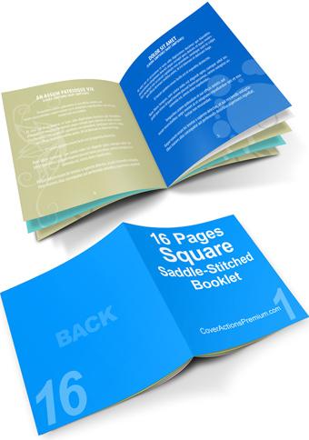 16 Pages Square Booklet Mockup-saddlestich