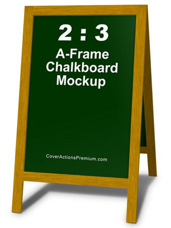 2by3 A-Frame Chalkboard Mockup