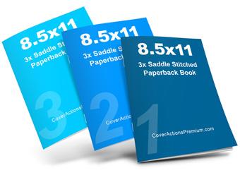 8.5x11-3 Saddle titch Book Mockup