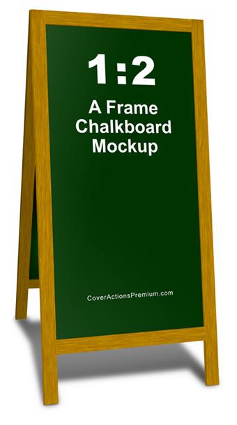 A-Frame Chalkboard Mockup- 1by2