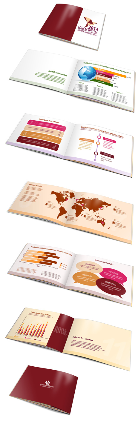 A5 12 page landscape brochure mockup cover actions for 12 page brochure template