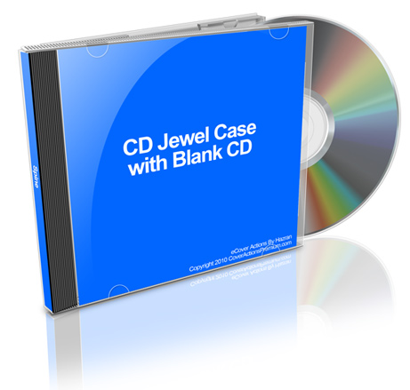 CD Jewel Case Action Script Cover Actions Premium Mockup PSD
