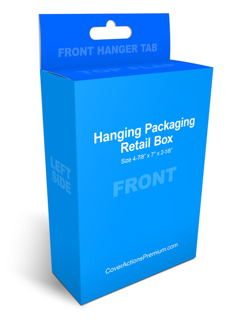 hanging packaging box mockup
