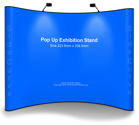 Pop Up Exhibition Stand Mockup Cover Actions Premium