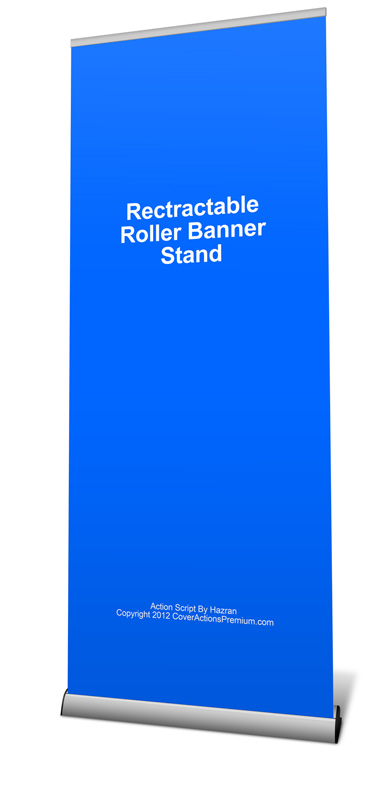 Retractable Roller Banner Mockup Cover Actions Premium