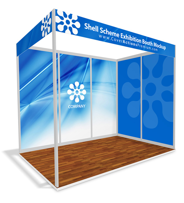Exhibition Stall Mockup : Shell scheme exhibition booth mockup cover actions premium
