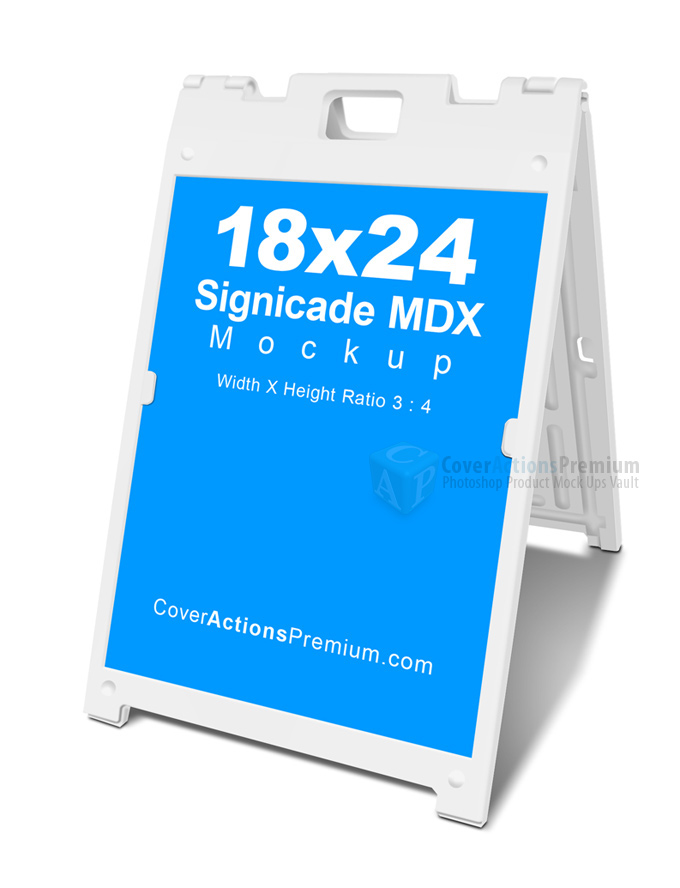 Signage Mockup 18x24 Cover Actions Premium Mockup Psd Template
