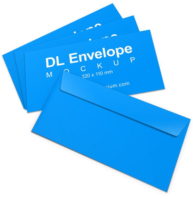 DL Envelope Mockup | Cover Actions Premium | Mockup PSD ...