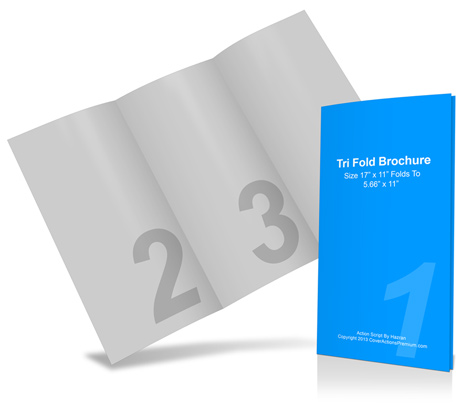 11 17 trifold cover actions premium mockup psd template for 11x17 brochure template