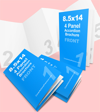 4 panel cover actions premium mockup psd template for 8 5 x 14 brochure template