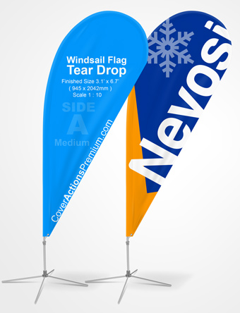 Teardrop Feather Flag Mockup Cover Actions Premium Mockup Psd
