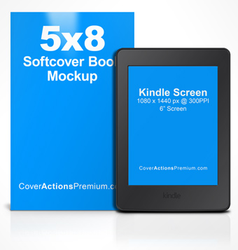 eReader | Cover Actions Premium | Mockup PSD Template